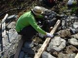 石組み作業