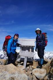 山頂にて郁子嬢と♪