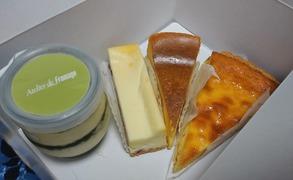 アトリエ・ド・フロマージュさんのチーズケーキの数々