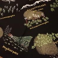 愛用している苔バンダナの一部(色は何種類かありました)
