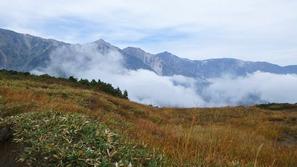 第2ケルンあたりから見た白馬三山