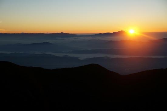 山頂からのご来光