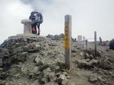白馬岳山頂の標識