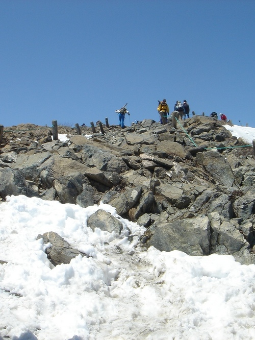 八方池までの登山道