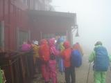 唐松岳頂上山荘の出入口
