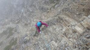 五竜岳への岩場
