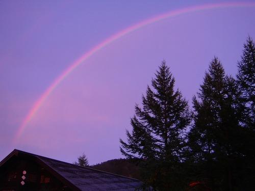 尾瀬沼ビジターセンターにかかる、おーーっきな虹