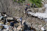 白馬鑓温泉への登山道