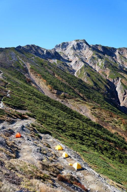 今日の五竜岳 '12年10月8日