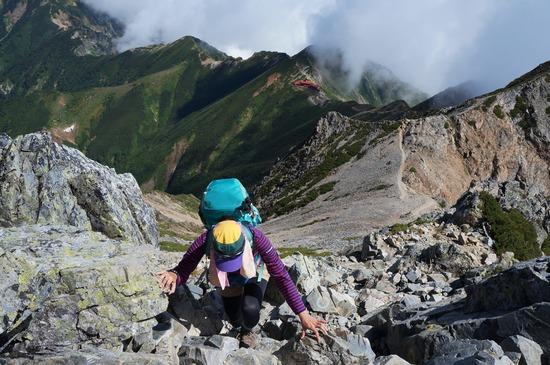 五竜岳への登り