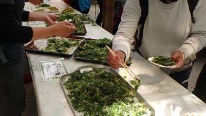 下山後は猿倉荘さんで恒例の山菜の振る舞い♪