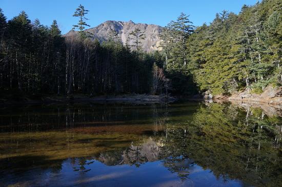 みどり池に映る東天狗岳