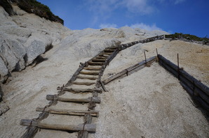 山頂手前の階段