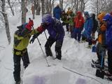 雪の結合の強さを調べる