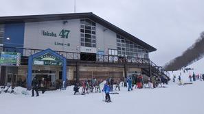 Hakuba47スキー場のゴンドラ終点駅