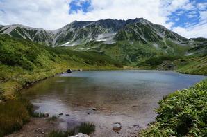 立山とミドリガ池