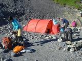 村営頂上宿舎のテント場