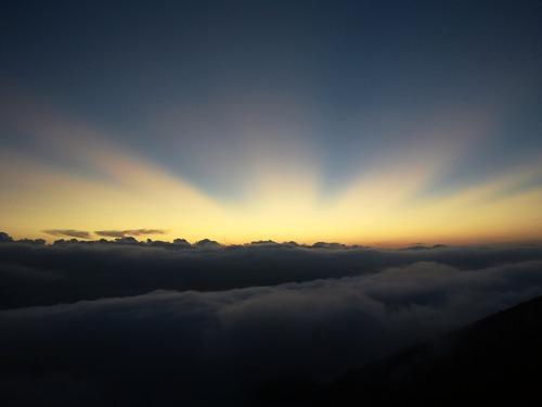 燕山荘からの夕景