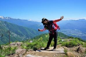 小遠見山を目指して出発〜!