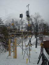気象観測装置、設置完了!