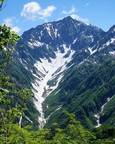 氷河に認定されているカクネ里雪渓(カクネ里氷河)