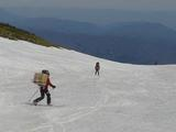 スキーで下山