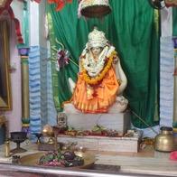 お祭りされているヒンズー教の女神さま