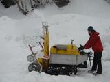 埋没者の上に雪をかけます