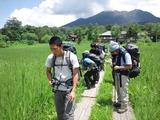 植物撮影をしながら進む・尾瀬ヶ原