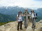 唐松岳山頂にて