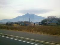 バスの車窓から見た筑波山