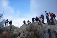 筑波山山頂のすぐ横にて