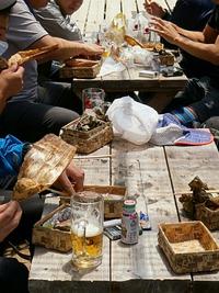 赤岳鉱泉のランチタイムでビール!?