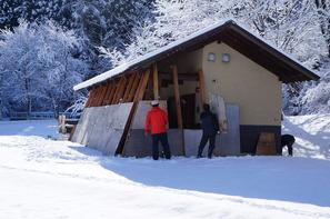 大出公園の公衆トイレも冬支度