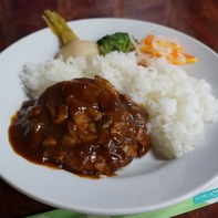 夏沢鉱泉さんのお箸で食べるハンバーグランチ@800円