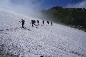 小雪渓の様子('16年7月12日)