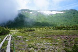 天狗原(てんぐっぱら)から白馬乗鞍岳の大斜面を見上げる