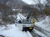 林道には結構な雪が