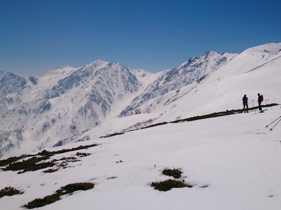 白馬乗鞍岳から白馬三山を望む