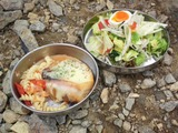 オニオングラタンスープもどき&生田アナ特製お茶づけサラダ