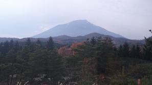 車窓から見えた岩手山