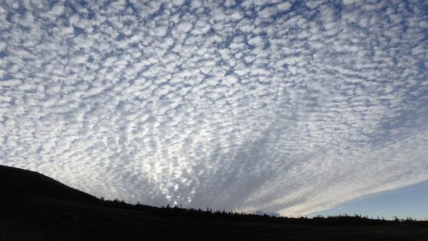 白馬大池から見あげた雲