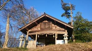 光城山山頂の小峯神社