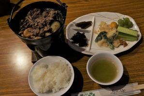 名物♪さくら鍋の夕食