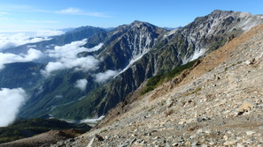 白馬三山から鹿島槍ヶ岳までを一望