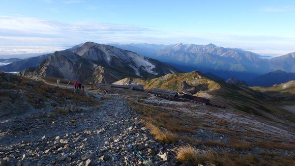 剱立山連峰、白馬鑓ヶ岳方面を望む
