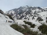 白馬大雪渓をめざします