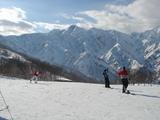 五竜岳を望む