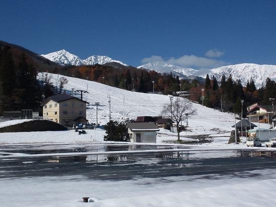 八方尾根スキー場の名木山にて