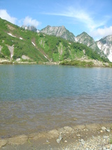 八方池と唐松岳